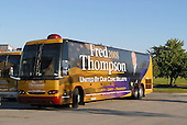 Cedar Rapids, IA - September 8, 2007 -- Fred Thompson 2008 campaign bus parked at the Cedar Rapids Marriott, Cedar Rapids, Iowa on Saturday, September 8, 2007.  Thompson spent the night at the hotel in advance of an appearance..Credit: Ron Sachs / CNP.(RESTRICTION: No New York Metro or other Newspapers within a 75 mile radius of New York City)