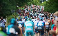peloton up La Redoute (max 22%)<br /> <br /> Eneco Tour 2013<br /> stage 6: Riemst - Aywaille (La Redoute) <br /> 150km