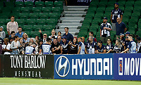 1st February 2020; HBF Park, Perth, Western Australia, Australia; A League Football, Perth Glory versus Melbourne Victory; Melbourne players greet the fans after their 2-2 draw against Perth Glory