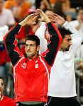 Tenis, Davis Cup 2010.Serbia Vs. Czech Republic, semifinals.Viktor Troicki Vs. Radek Stepanek.Novak Djokovic, left and Nenad Zimonjic.Beograd, 17.09.2010..foto: Srdjan Stevanovic/Starsportphoto ©