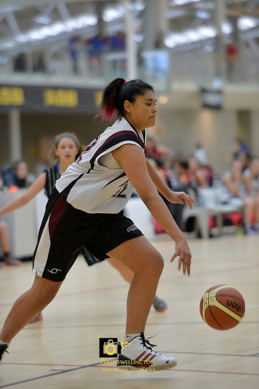 Action from the Basketball - U15 National Champs at ASB Sports Centre, Wellington, New Zealand on Wednesday 16 July 2014. <br /> Photo by Masanori Udagawa. <br /> www.photowellington.photoshelter.com.