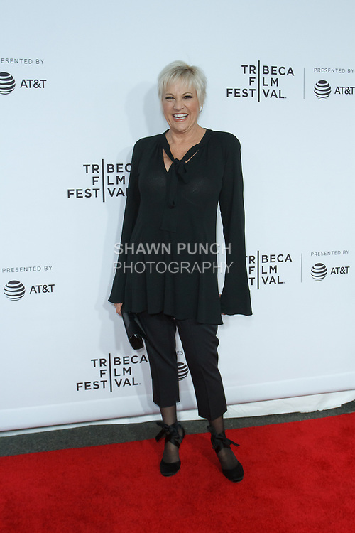 """Lorna arrives at the Clive Davis: """"The Soundtrack Of Our Lives"""" world premiere for the Opening Night of the 2017 TriBeCa Film Festival on April 19, 2017 at Radio City Music Hall."""