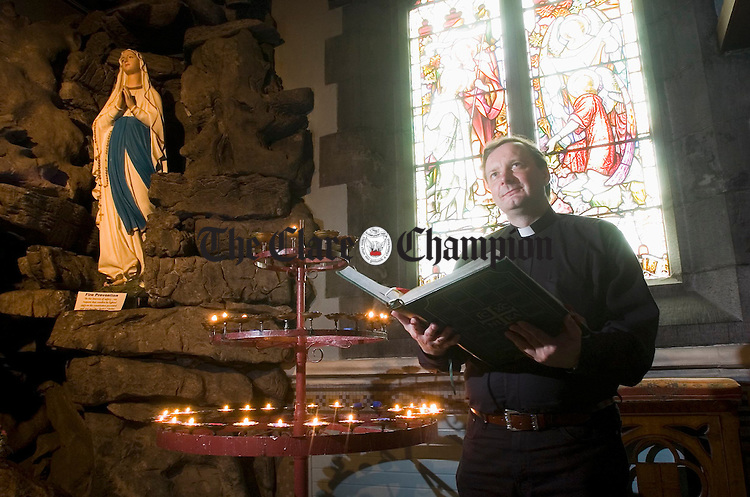 Polish priest Fr Tomasz Daukszewich in Ennis Cathedral. Photograph by John Kelly.