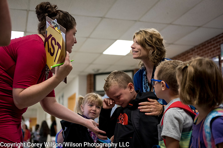 First day of school at Howard Elementary School in Howard on September 5, 2017.
