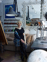 Liza Sherman in her New York antique shop
