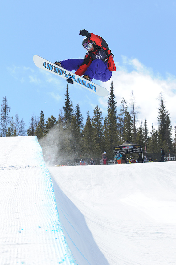 USASA Halfpipe competition at Copper Mountain on March 7, 2010