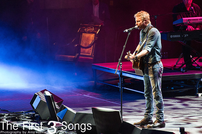 "Dierks Bentley performs at the George Jones Tribute Concert ""Playin' Possum: The Final No Show"" at Bridgestone Arena in Nashville, TN"