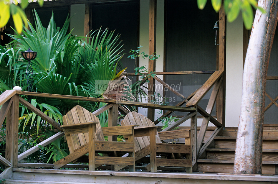 Iles Bahamas /Ile d'Andros/South Andros: Eco-Lodge-Tiamo Resort le bungalow principal