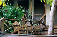 Iles Bahamas /Ile d'Andros/South Andros : Eco-Lodge-Tiamo Resort le bungalow principal