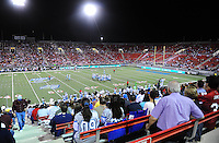 Oct. 8, 2009; Las Vegas, NV, USA; Fans watch from the crowd during the game between the California Redwoods against the Las Vegas Locomotives in the inaugural United Football League game at Sam Boyd Stadium. Las Vegas defeated California 30-17. Mandatory Credit: Mark J. Rebilas-