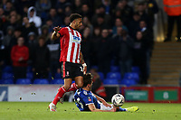 Bruno Andrade of Lincoln City and Emyr Huws of Ipswich Town during Ipswich Town vs Lincoln City, Emirates FA Cup Football at Portman Road on 9th November 2019