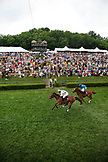 USA, Tennessee, Nashville, Iroquois Steeplechase, jockey Brian Crowley and Arcadius are first under the wire to become the 2012 winners