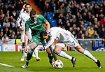 Real Madrid's Walese forward Gareth Bale during the Champions league football match Real Madrid vs Ludogorets at the Santiago Bernabeu stadium in Madrid on december 9, 2014. DP / Photocall3000.