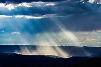 Light rays over the Canyonlands, Seen from Canyon Rims Recreation Area, Utah Proposed Canyonlands National Monument