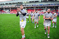 Matt Banahan of Bath Rugby. Aviva Premiership match, between Gloucester Rugby and Bath Rugby on October 1, 2016 at Kingsholm Stadium in Gloucester, England. Photo by: Patrick Khachfe / Onside Images