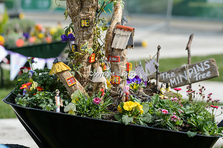 Coed Glas Primary School in the Schools Wheelbarrow Competition at the RHS Show Cardiff 2016.