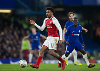 Arsenal's Alex Iwobi in action <br /> <br /> Photographer Craig Mercer/CameraSport<br /> <br /> The Carabao Cup - Semi-Final 1st Leg - Chelsea v Arsenal - Wednesday 10th January 2018 - Stamford Bridge - London<br />  <br /> World Copyright &copy; 2018 CameraSport. All rights reserved. 43 Linden Ave. Countesthorpe. Leicester. England. LE8 5PG - Tel: +44 (0) 116 277 4147 - admin@camerasport.com - www.camerasport.com