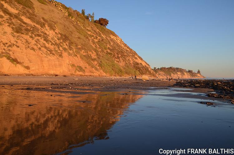 Hendry's Beach in Santa Barbara at sunset