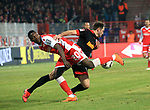 12.04.2019, Stadion an der Wuhlheide, Berlin, GER, 2.FBL, 1.FC UNION BERLIN  VS. Jahn Regensburg, <br /> DFL  regulations prohibit any use of photographs as image sequences and/or quasi-video<br /> im Bild Suleiman Abdullahi (1.FC Union Berlin #20), Jonas Foehrenbach (Jahn Regensburg #19)<br /> <br />      <br /> Foto &copy; nordphoto / Engler
