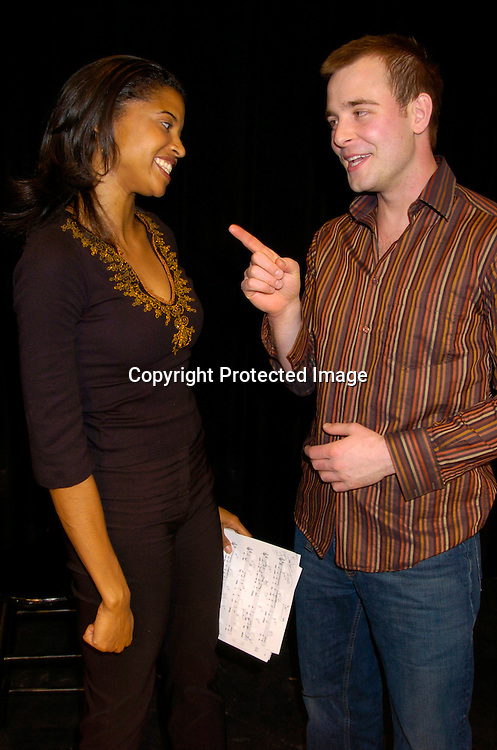 "Renee Elise Goldsberry and Jay Wilkison..at the Musicals Tonight performance of ""A Celebration of ..Daytime Stars"" on March 21, 2004 at the 14th Street Ymca. ..in New York City. ..Photo by Robin Platzer, Twin Images"