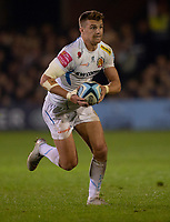 Exeter Chiefs' Henry Slade<br /> <br /> Photographer Bob Bradford/CameraSport<br /> <br /> Gallagher Premiership - Bath Rugby v Exeter Chiefs - Friday 5th October 2018 - The Recreation Ground - Bath<br /> <br /> World Copyright &copy; 2018 CameraSport. All rights reserved. 43 Linden Ave. Countesthorpe. Leicester. England. LE8 5PG - Tel: +44 (0) 116 277 4147 - admin@camerasport.com - www.camerasport.com
