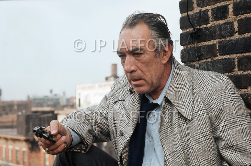 New York, NY, July 1972. Anthony Quinn as the Capt. Mattelli during the shooting of a scene. -  Across 110th Street is a 1972 American crime drama film directed by Barry Shear. Commonly associated with the blaxploitation genre at the time, it has received considerable critical praise for surpassing the limitations of that genre.
