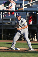 Sean Dwyer #29 of the Tri-City Dust Devils during a game against the Everett AquaSox at Everett Memorial Stadium on July 29, 2014 in Everett, Washington. Everett defeated Tri-City, 7-5. (Larry Goren/Four Seam Images)