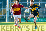 Fionn Fitzgerald Dr Crokes in action against Oisin Looney St Joseph's Miltown Malbay during the AIB Munster GAA Football Senior Club Championship Final match between Dr. Crokes and St. Josephs Miltown Malbay at the Gaelic Grounds in Limerick on Sunday.