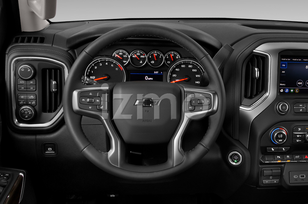 Car pictures of steering wheel view of a 2019 Chevrolet Silverado-1500 RST 4 Door Pick-up Steering Wheel