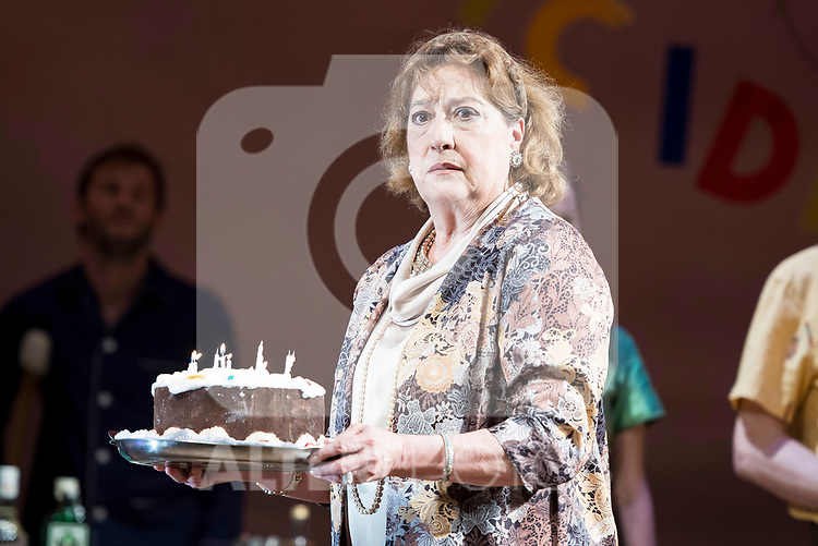 "Ana Marzoa during theater play of ""Una gata sobre un tejado de Cinc caliente"" at Reina Victoria theater in Madrid, Spain. March 15, 2017. (ALTERPHOTOS/BorjaB.Hojas)"