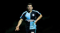 Matthew Bloomfield of Wycombe Wanderers calls for the ball during the Sky Bet League 2 match between Yeovil Town and Wycombe Wanderers at Huish Park, Yeovil, England on 24 November 2015. Photo by Andy Rowland.