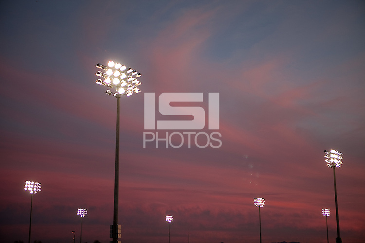 PHOENIX, AZ--US Soccer Development Academy, Reach 11, Phoenix, AZ, Friday, December 5, 2009. Sunset over the fields.