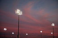 PHOENIX, AZ--US Soccer Development Academy, Reach 11, Phoenix, AZ, Friday, December 5, 2009. Sunset over the fields.