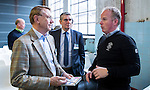 UTRECHT - Nationaal Golf Congres en Beurs 2017. NVG  motto: Like to Play & Love to stay. NGF president Willem Zelsmann (l) met John Boerdonk. FOTO © Koen Suyk