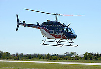 NWA Democrat-Gazette/BEN GOFF @NWABENGOFF<br /> The Air Evac Lifeteam air ambulance from Springdale takes off on Saturday Sept. 12, 2015 during the Sheep Dog Impact Assistance annual Patriot Day event at Bentonville Municipal Airport. The event honored the victims of the Sept. 11, 2001 terrorist attacks and offered visitors a chance to get an up close look at military and emergency response vehicles.