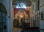 Wnętrze synagogi Remuh na krakowskim Kazimierzu.<br /> Remuh Synagogue inside Krakow's Kazimierz district.