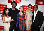 Daphne Rubin-Vega, Wood Harris, Emily Mann, Nicole Ari Parker and Blair Underwood.attending the Broadway Opening Night After Party for 'A Streetcar Named Desire' on 4/22/2012 at the Copacabana in New York City.