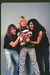 Slayer, Jeff Hanneman, Kerry King, Tom Araya, Photo By David Plastik/IconicPix 1988 Los Angeles