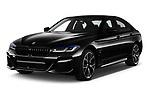 2021 BMW 5-Series 530e-Edition-M-Sport 4 Door Sedan Angular Front automotive stock photos of front three quarter view