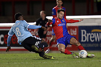 Emmanuel Oyeleke of Aldershot Town and Luke Howell of Dagenham  during Dagenham & Redbridge vs Aldershot Town, Vanarama National League Football at the Chigwell Construction Stadium on 10th February 2018