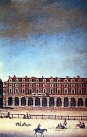 London: Covent Garden, 1740's, detail. Painting by Samuel Scott. (Hibbert, London)