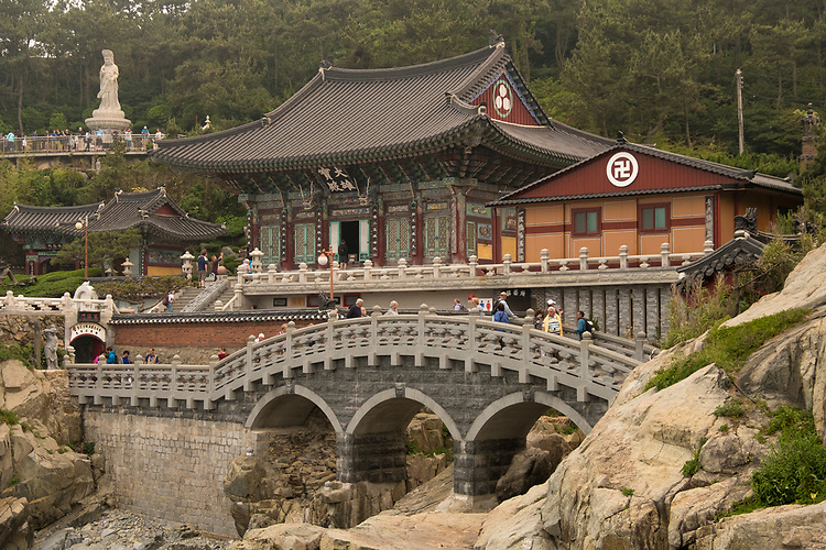 Haedong Yonggungsa Temple is situated on the coast of the north-eastern portion of Busan. This superb attraction offers visitors the rare find of a temple along the shore line; most temples in Korea are located in the mountains.