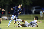 CARY, NC - OCTOBER 06: UNC's Zach Wright (10) and Wake Forest's Eddie Folds (right). The University of North Carolina Tar Heels hosted the Wake Forest University Demon Deacons on October 6, 2017 at Koka Booth Field at WakeMed Soccer Park in Cary, NC in a Division I college soccer game.