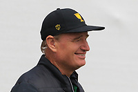 Ernie Els (International Team Captain) at the 1st during the Second Round - Foursomes of the Presidents Cup 2019, Royal Melbourne Golf Club, Melbourne, Victoria, Australia. 13/12/2019.<br /> Picture Thos Caffrey / Golffile.ie<br /> <br /> All photo usage must carry mandatory copyright credit (© Golffile | Thos Caffrey)