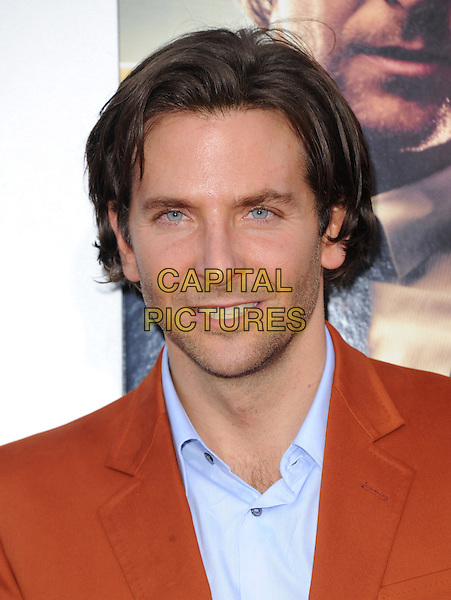 "Bradley Cooper.""The Hangover Part III"" Los Angeles Premiere held at the Westwood Village Theater, Los Angeles, California, USA..May 20th, 2013.headshot portrait orange suit blue shirt                                      .CAP/DVS.©DVS/Capital Pictures"
