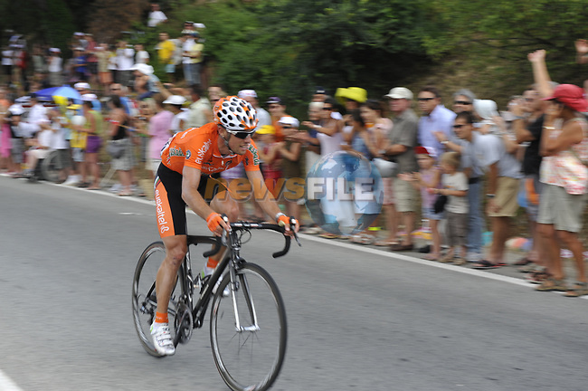 Alan Perez Lezaun (ESP) Euskaltel-Euskadi heads downhill after the Col d'Ange Col d'Ange during Stage 2 of the Tour de France 2009 running 187km from Monaco to Brignoles, France. 5th July 2009 (Photo by Eoin Clarke/NEWSFILE)