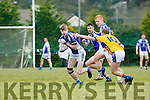 Danny Lucey Glenflesk tackles Templenoe Patrick Clifford during their Intermediate Championship clash in Glenflesk on Sunday