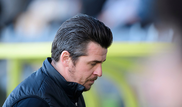Fleetwood Town manager Joey Barton<br /> <br /> Photographer Chris Vaughan/CameraSport<br /> <br /> The EFL Sky Bet League One - Saturday 23rd February 2019 - Burton Albion v Fleetwood Town - Pirelli Stadium - Burton upon Trent<br /> <br /> World Copyright © 2019 CameraSport. All rights reserved. 43 Linden Ave. Countesthorpe. Leicester. England. LE8 5PG - Tel: +44 (0) 116 277 4147 - admin@camerasport.com - www.camerasport.com