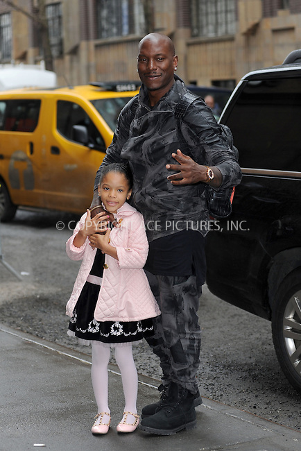 WWW.ACEPIXS.COM<br /> March 26, 2015 New York City<br /> <br /> Shayla Somer Gibson and Tyrese Gibson arriving to tape an appearance on 'The View' on March 26, 2015 in New York City.<br /> <br /> Please byline: Kristin Callahan/AcePictures<br /> <br /> ACEPIXS.COM<br /> <br /> Tel: (646) 769 0430<br /> e-mail: info@acepixs.com<br /> web: http://www.acepixs.com