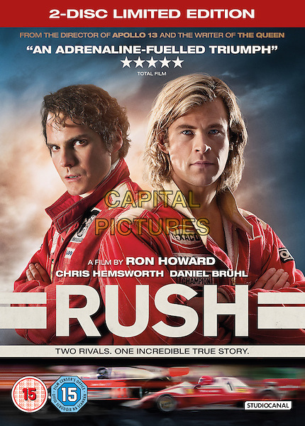 SAINSBURYS EXCLUSIVE DVD COVER ART<br /> in Rush (2013) <br /> *Filmstill - Editorial Use Only*<br /> CAP/NFS<br /> Image supplied by Capital Pictures
